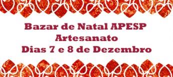 Bazar de Natal da APESP- Artesanato: inscrições encerradas para expositores!